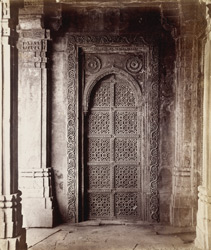 Blind door with geometric tracery screen, in the courtyard of the Tombs of the Queens, Ahmadabad